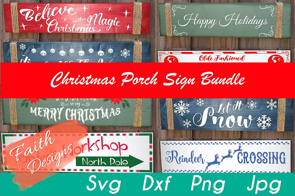Christmas Porch Sign Bundle example image 1