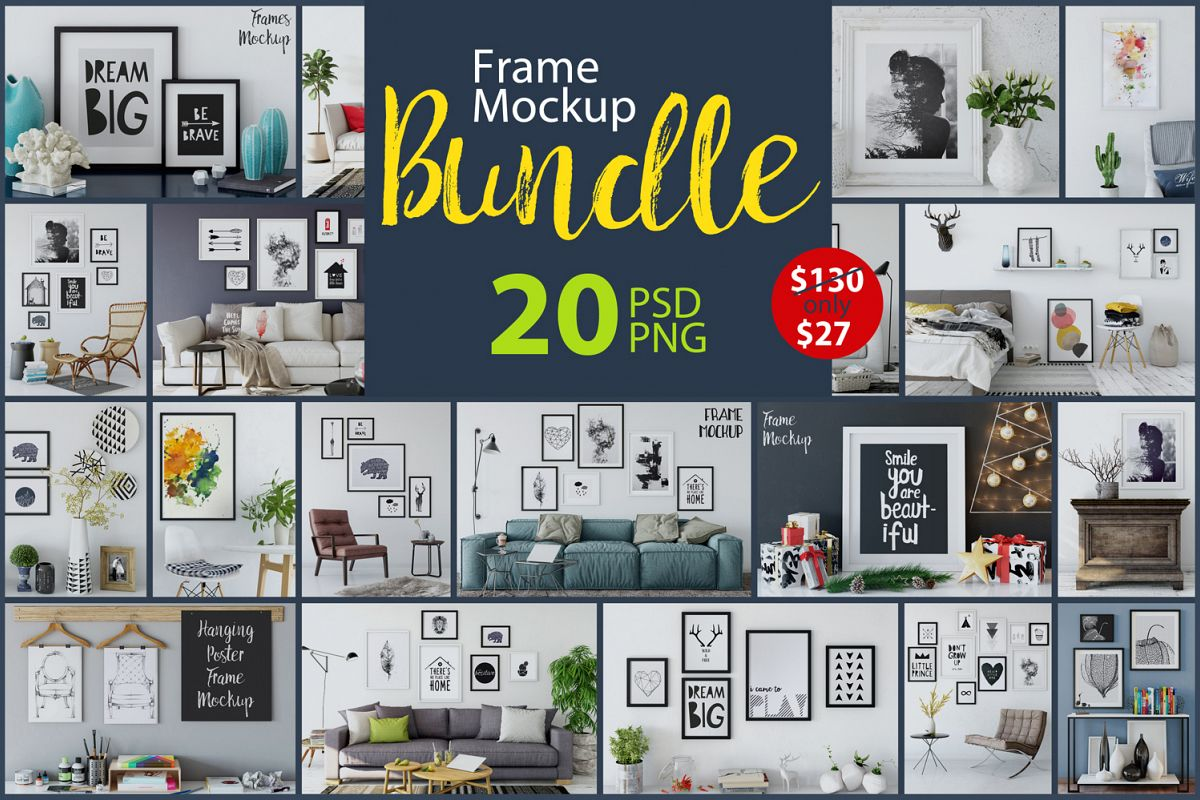 Frame Mockup - Bundle Vol. 1 example image 1