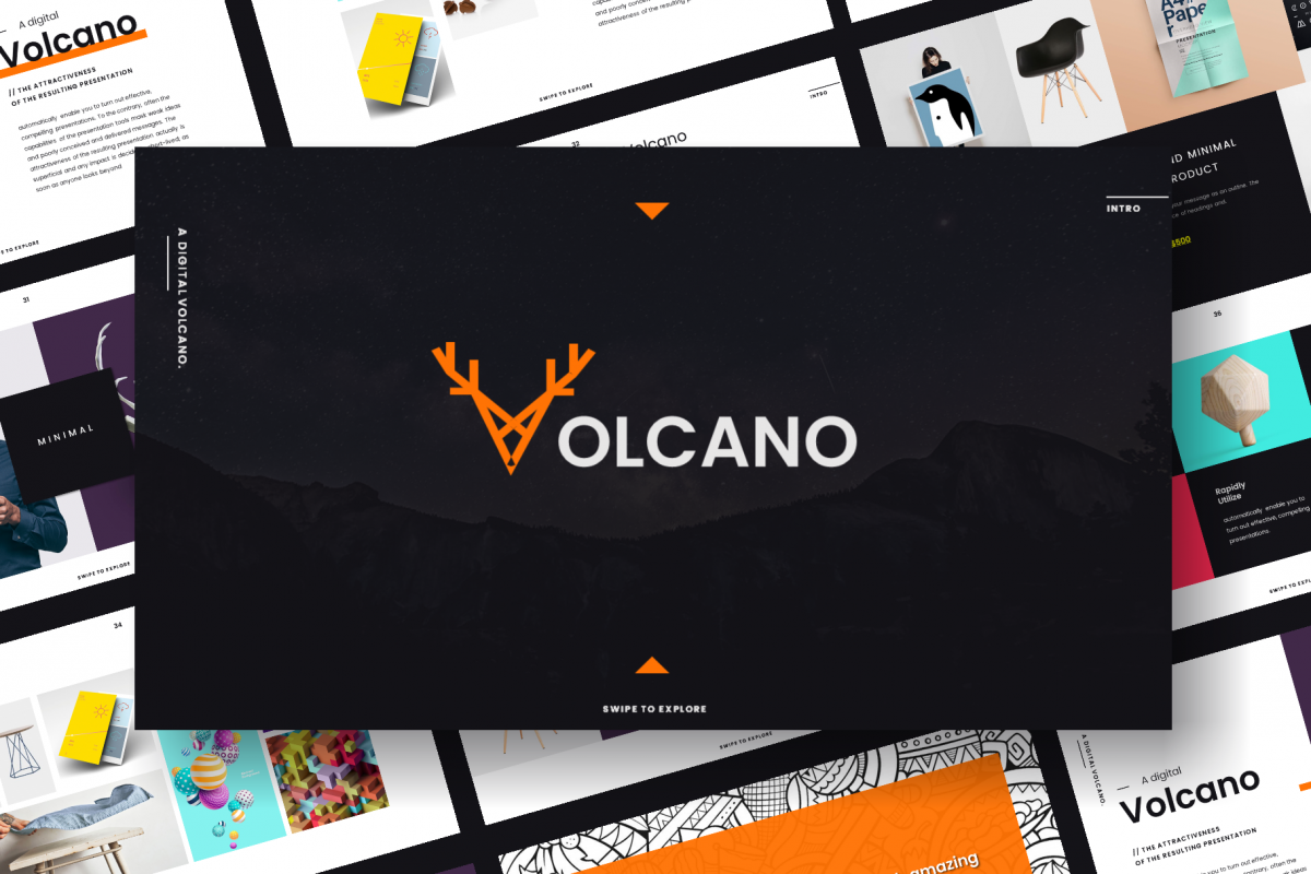 volcano powerpoint template