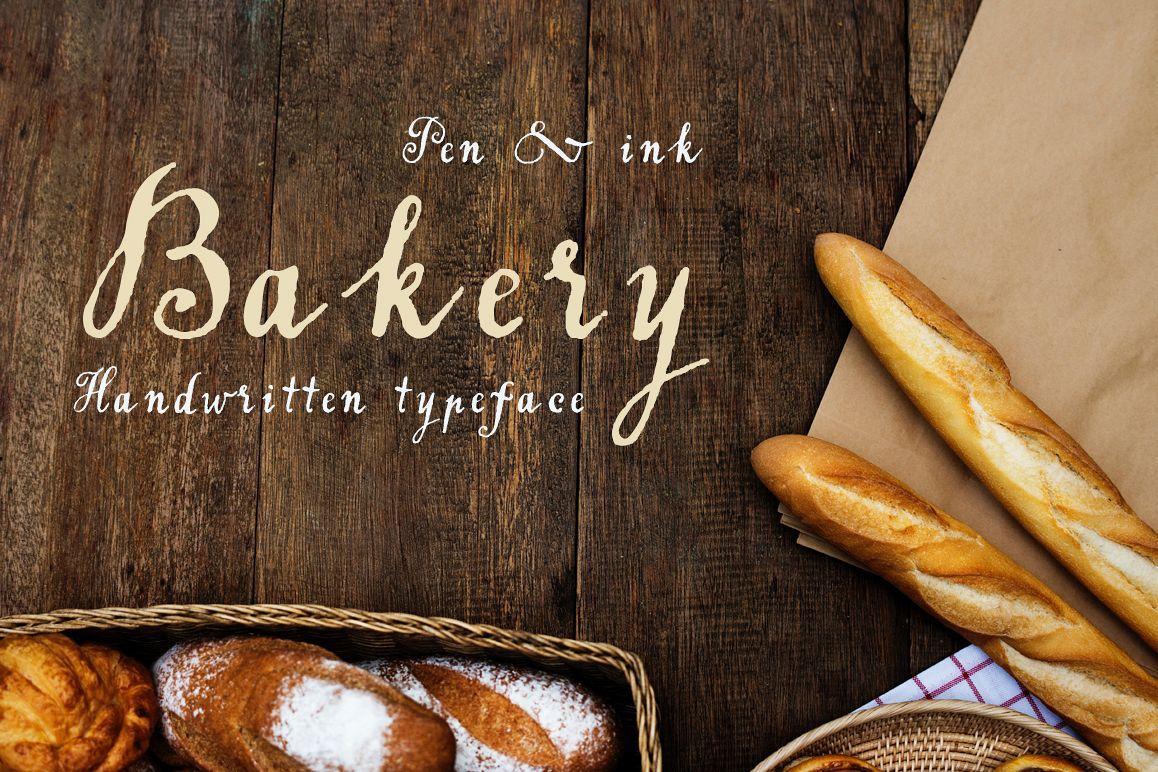 Handwritten tapeface Bakery example image 1