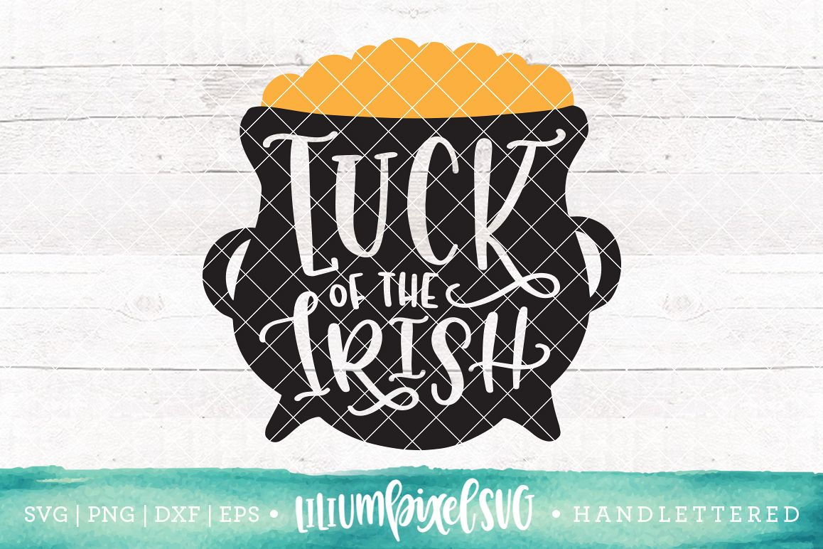 Pot of Gold - Luck of the Irish / SVG PNG DXF EPS file example image 1
