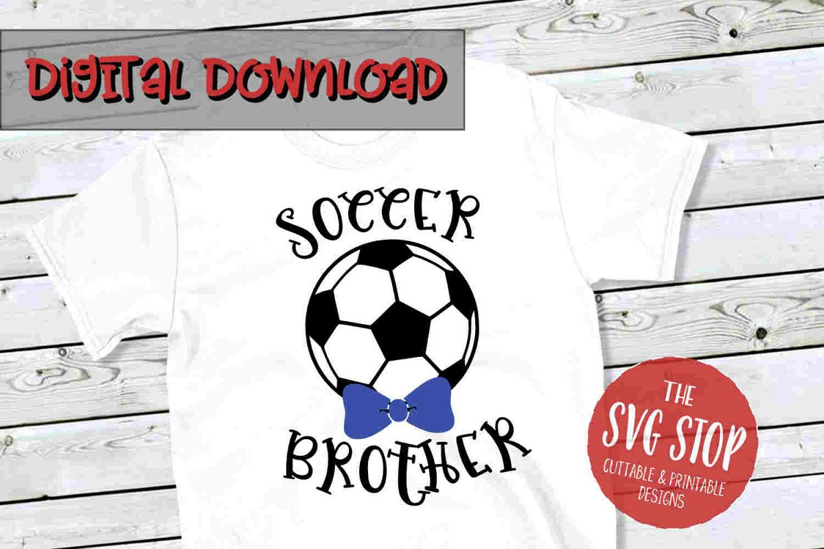 Soccer Brother -SVG, PNG, DXF example image 1