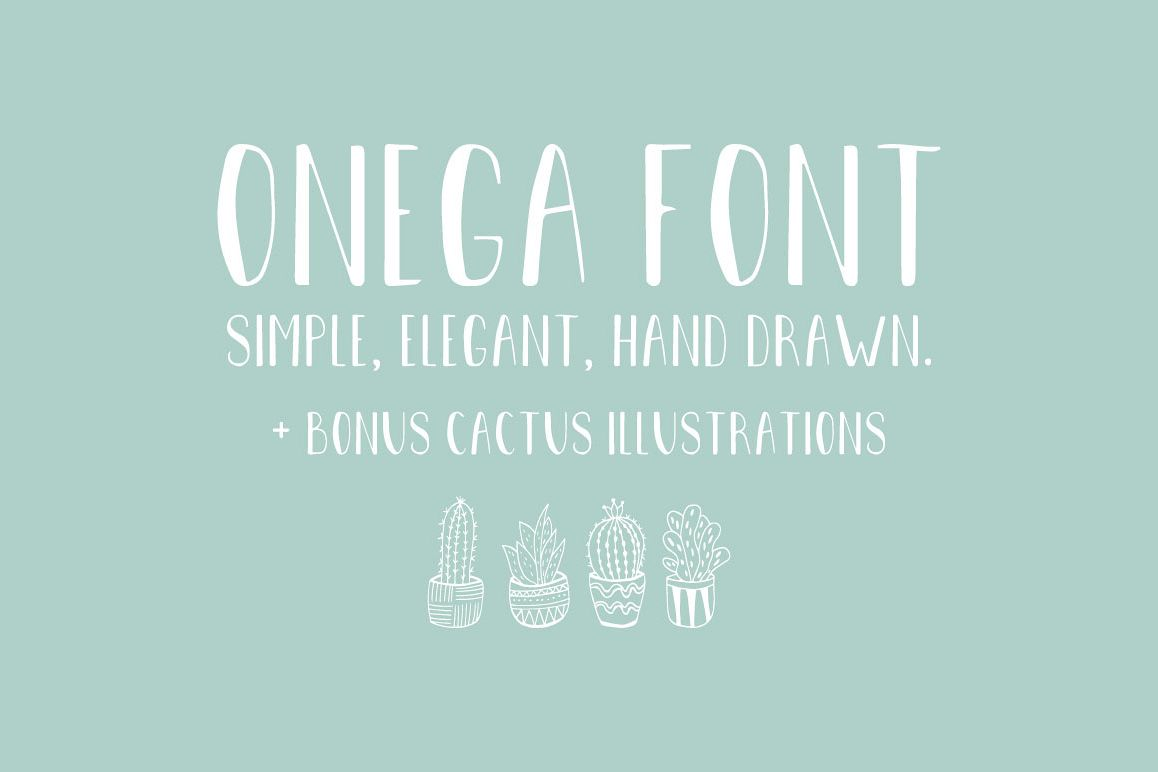 Onega Font example image 1