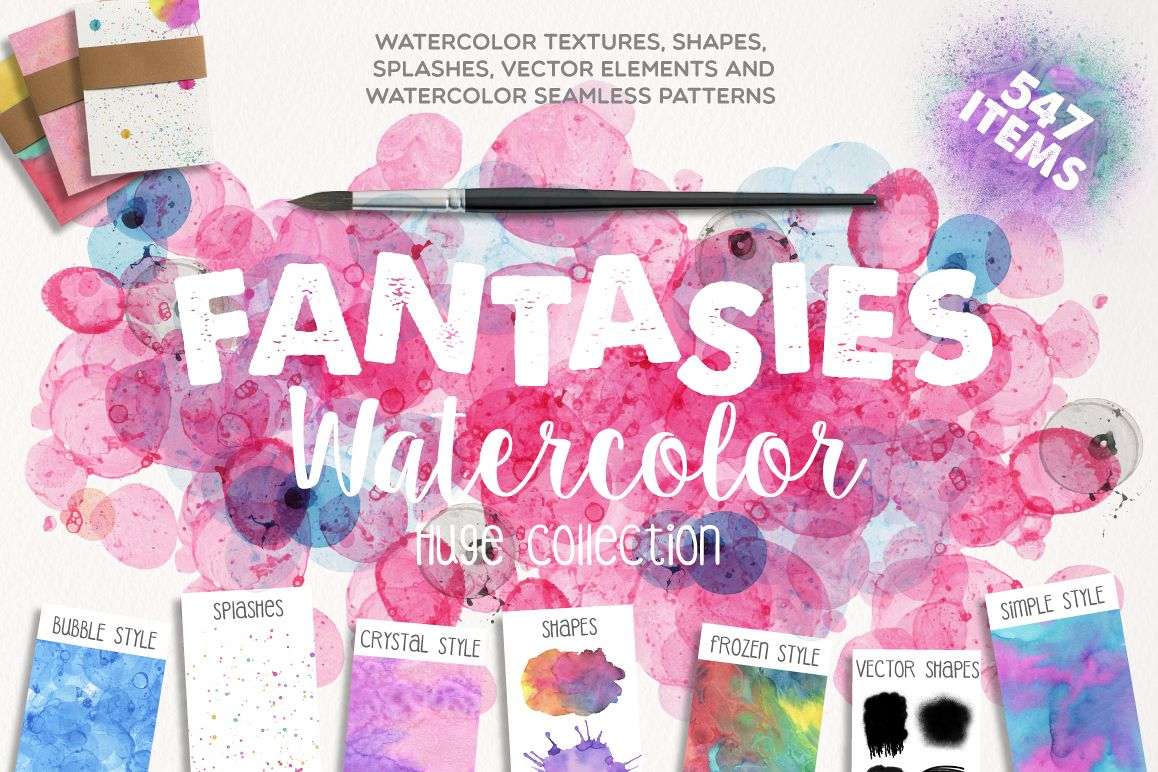 Fantasies Watercolor Collection example image 1