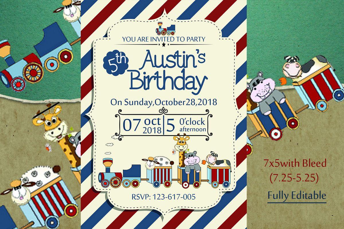 Retro Birthday Invitation Card example image 1