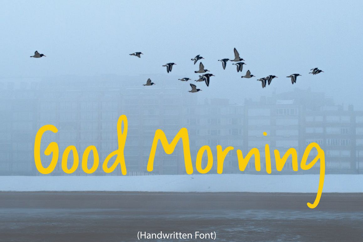 Good Morning | Handwritten Font example image 1