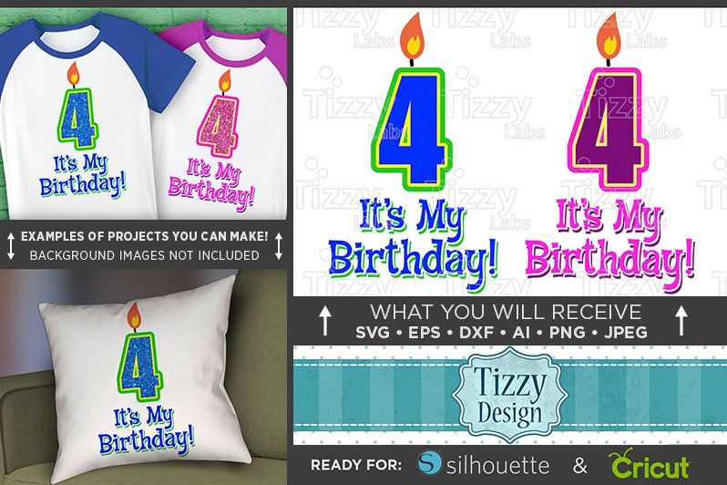4th Birthday Svg - Its My Birthday SVG Birthday Shirt - 1031 example image 1