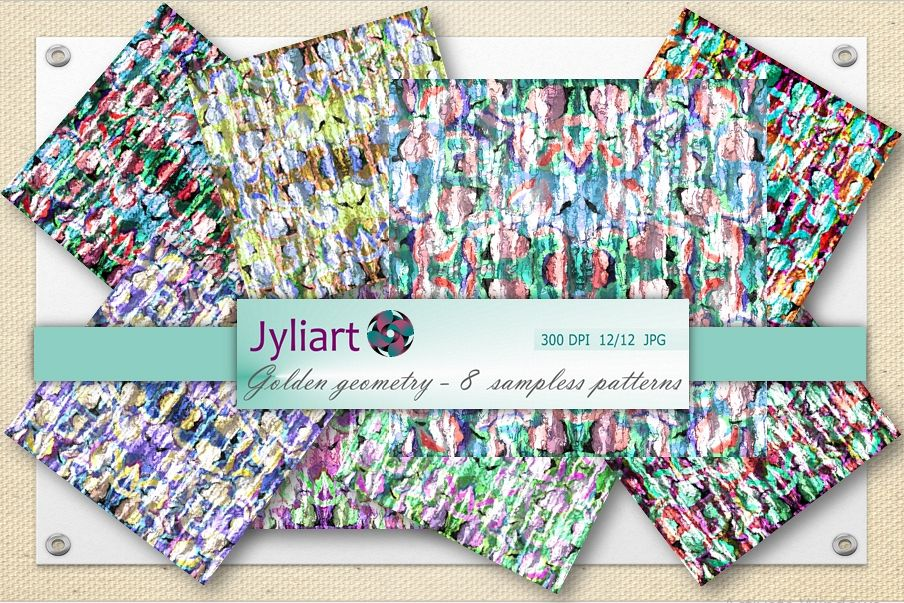 Digital papers, color motifs, digital paper, album paper example image 1