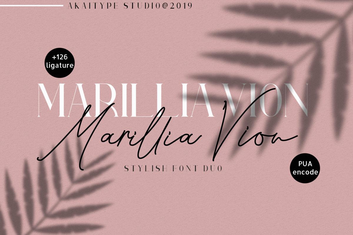 Marillia Vion - Font duo example image 1