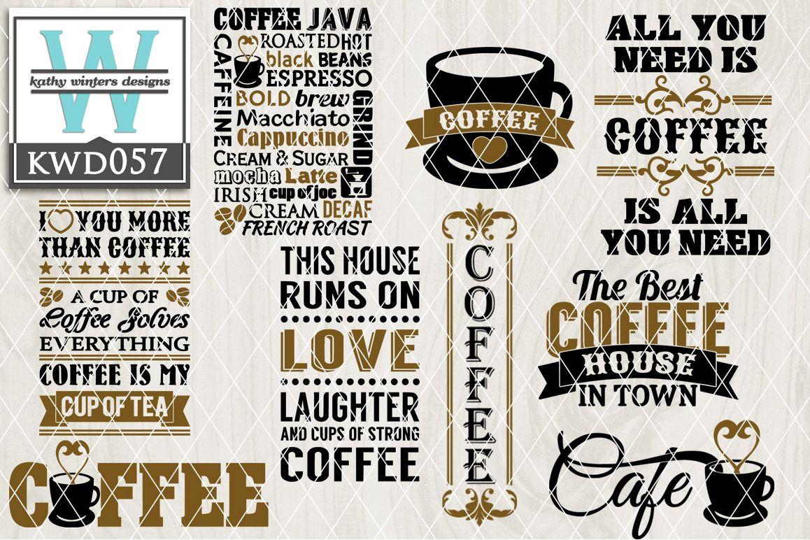 Coffee Cutting Files KWD057 example image 1