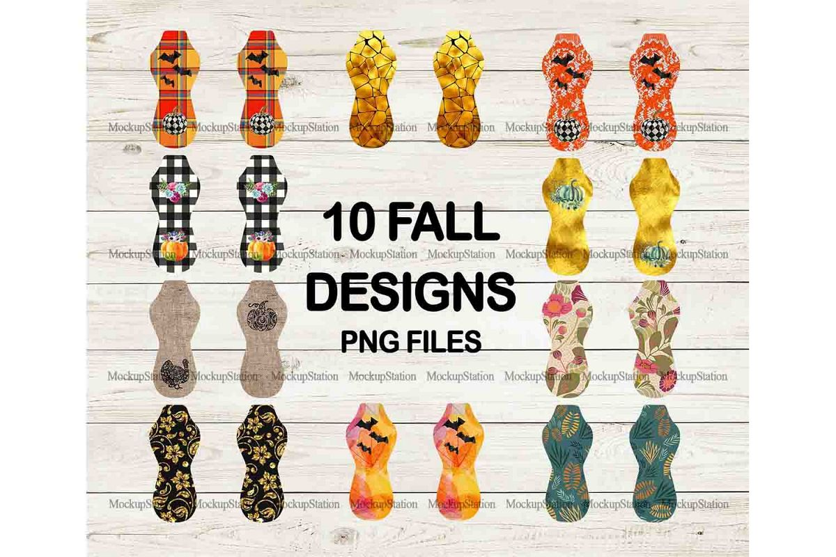 Fall Keychain Chapstick Sublimation Template Bundle PNG example image 1