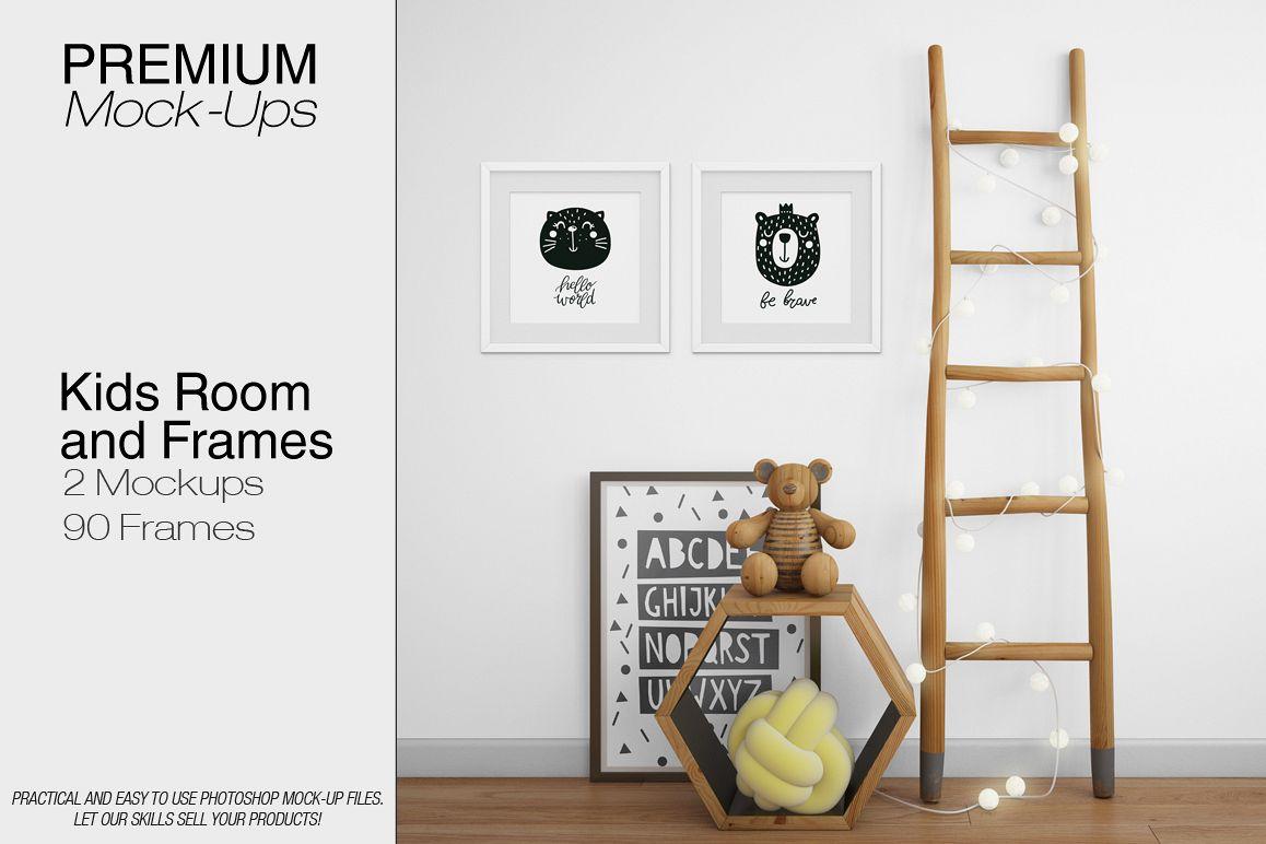 Kids Room Amp Frame Mockup