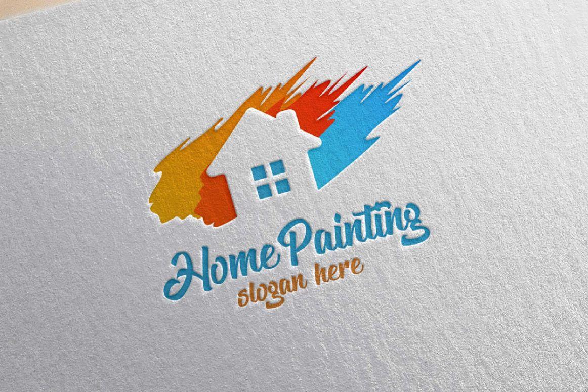 Home Painting Vector Logo Design by den | Design Bundles