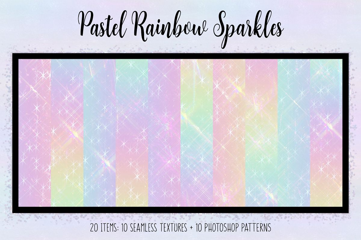 Pastel Rainbow Sparkles example image 1