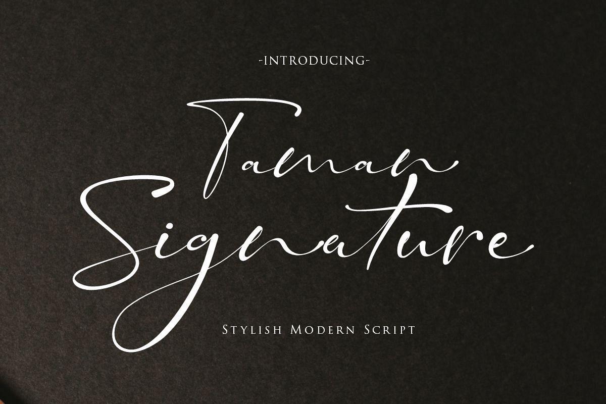 Taman Signature   Stylish Modern Script example image 1