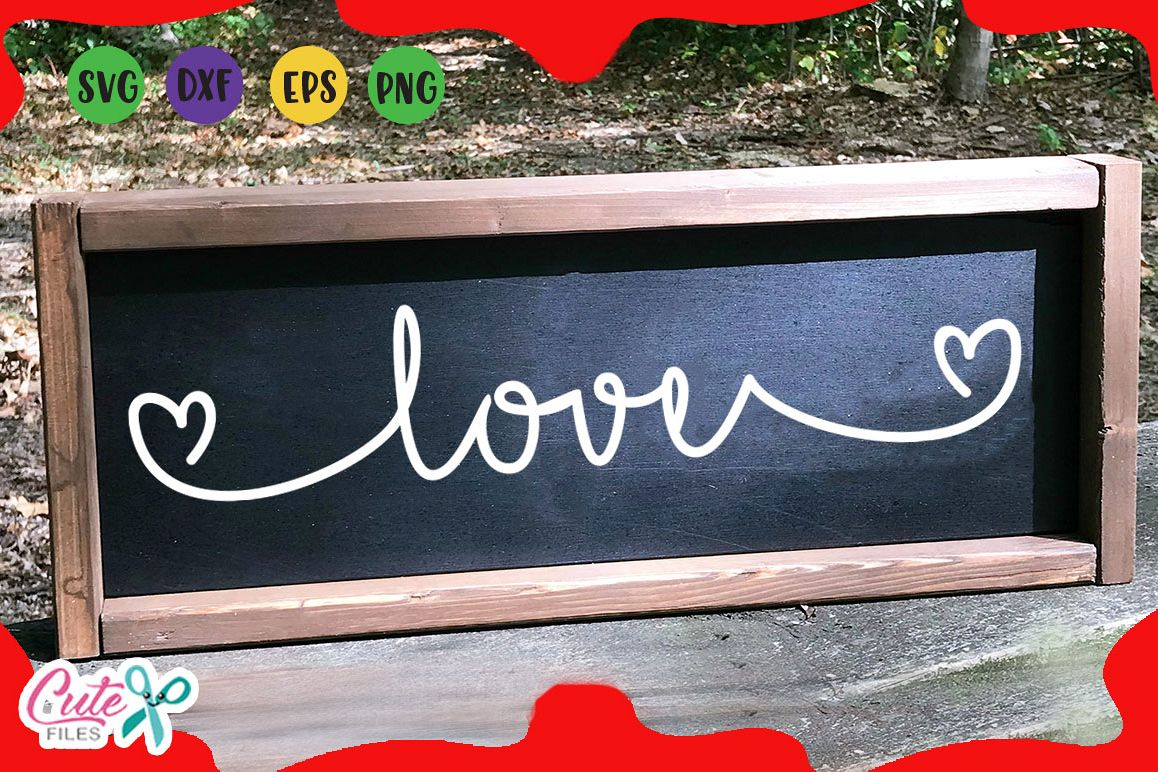 Love Wood Signs Svg Valentines Day For Crafter