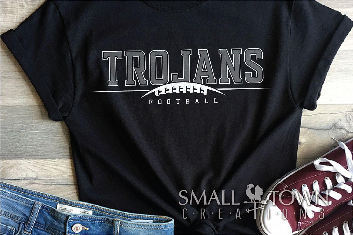 Trojan Football, Team, Sports, Logo, PRINT, CUT & DESIGN example image 1