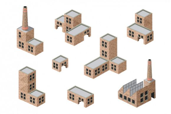 Factory vector buildings example image 1