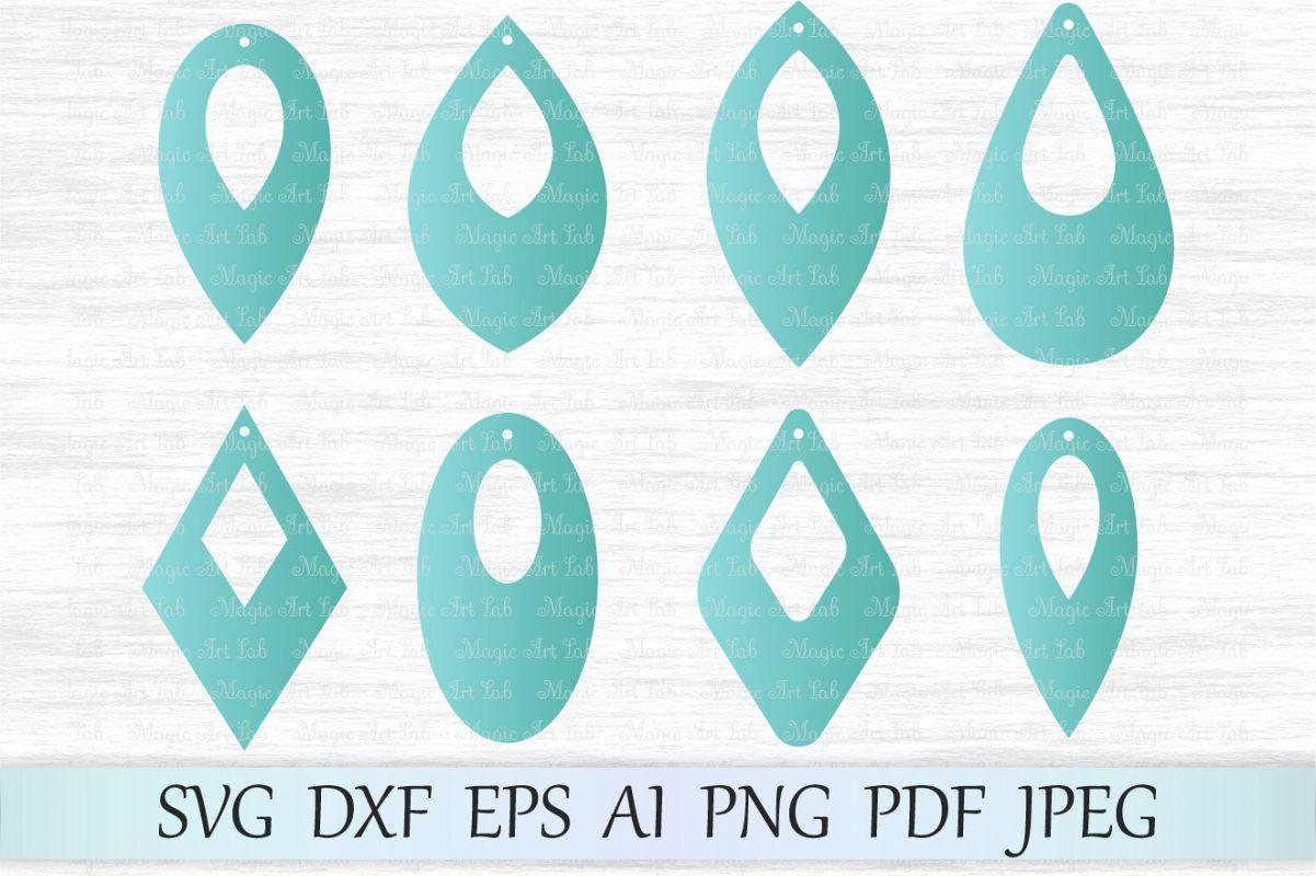 earrings svg file earring template cut file tear drop svg file