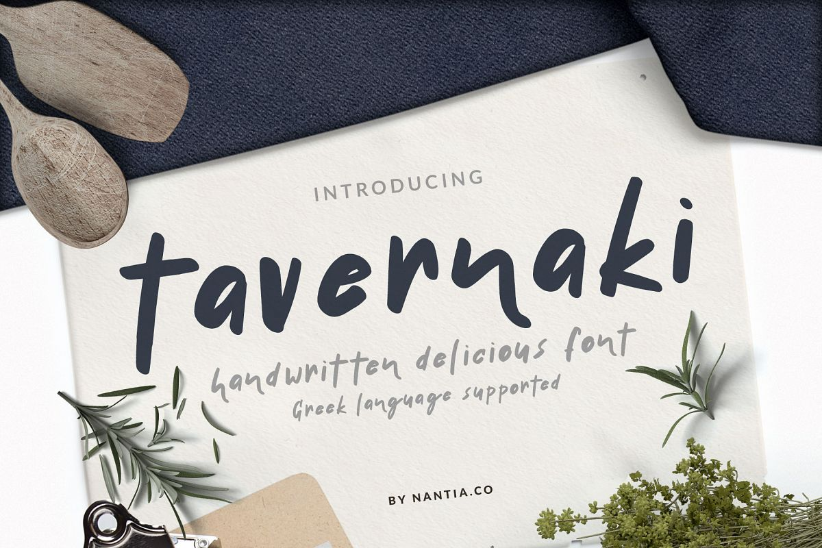 Handwritten Delicious Font Tavernaki example image 1