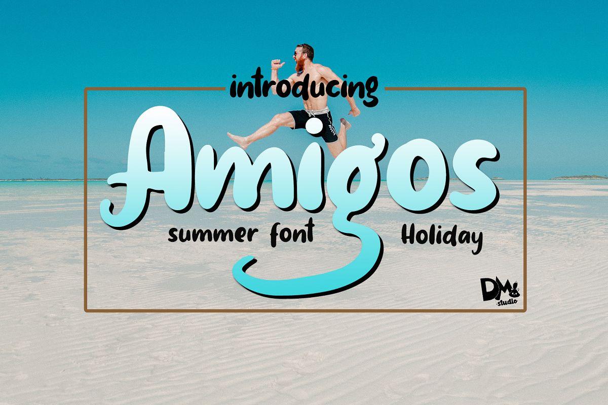 Amigos - Summer Font example image 1