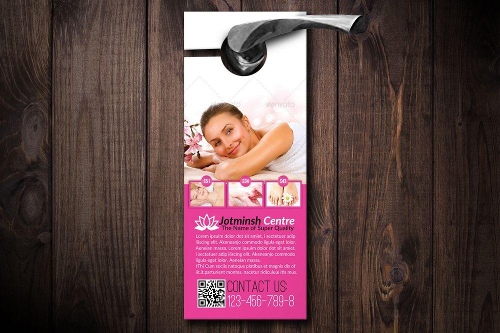 Beauty Spa & Massage Door Hangers example image 1