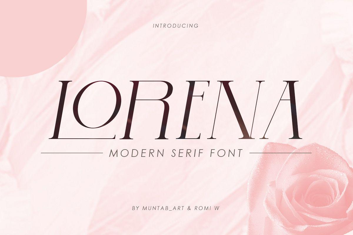 Lorena | Modern Serif Font example image 1