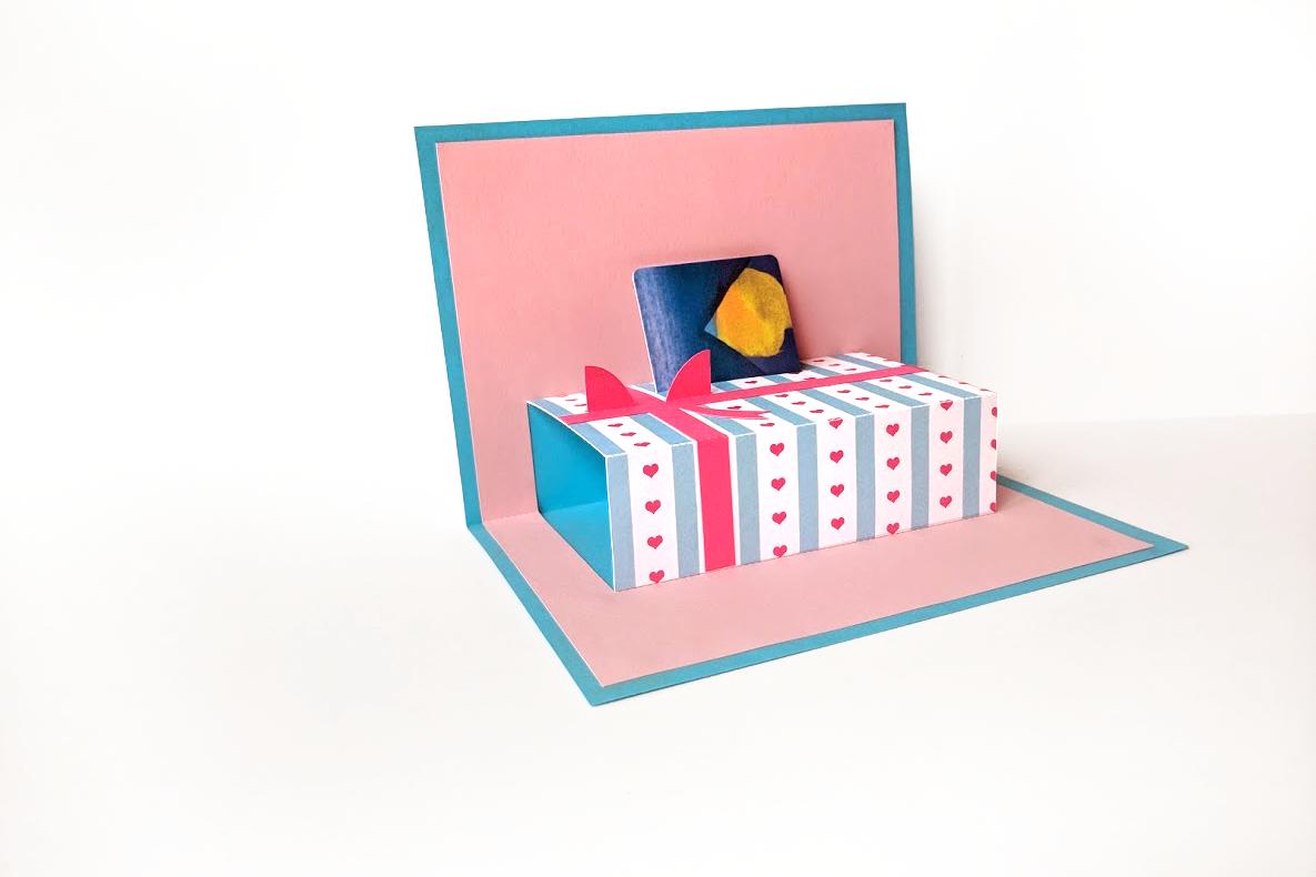 Gift Card Holder Gift Box Pop Up Card Svg Pdf Design
