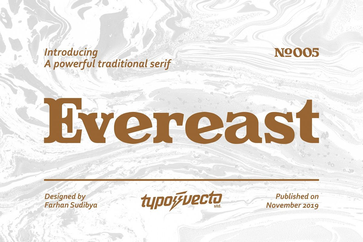 Evereast Serif Font example image 1