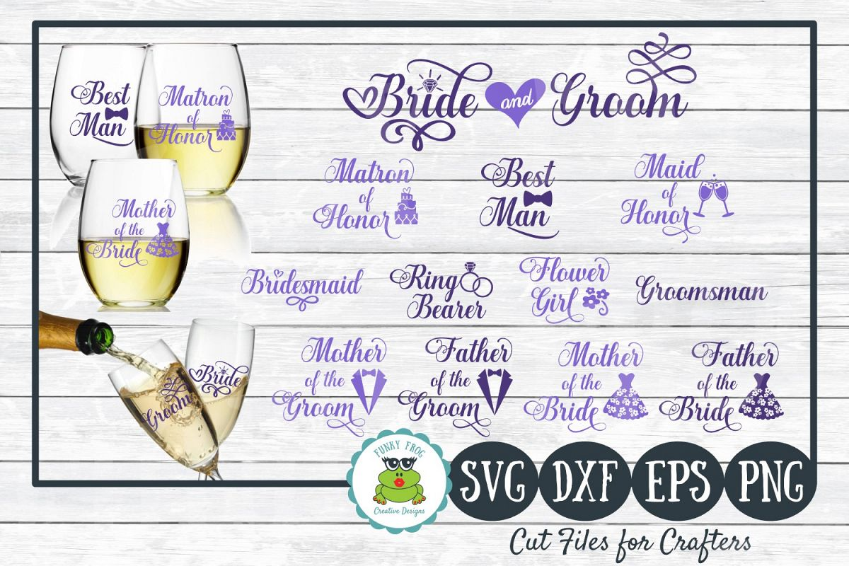 Wedding Party Design Bundle - SVG Cut Files for Crafters example image 1