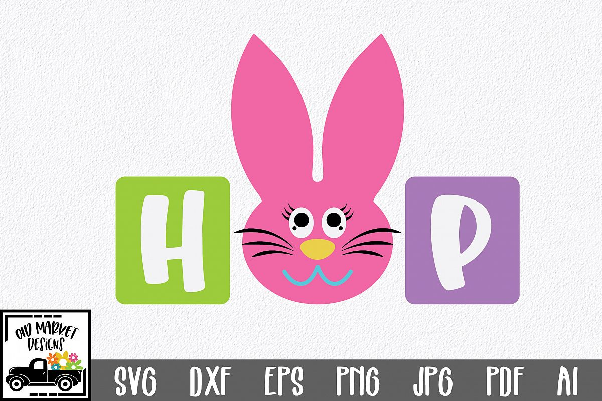 Easter SVG Cut File - Hop SVG DXF EPS PNG AI example image 1
