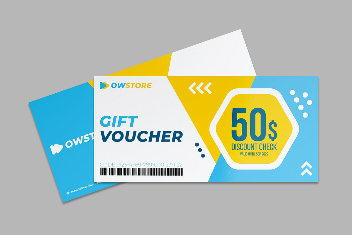 Gift Voucher Card Template Vol.2 example image 1