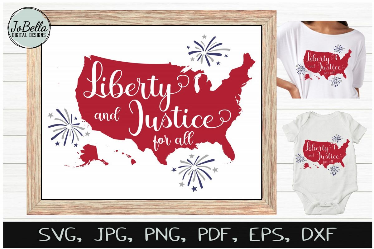 America SVG & July 4th Sublimation Design and Printable example image 1
