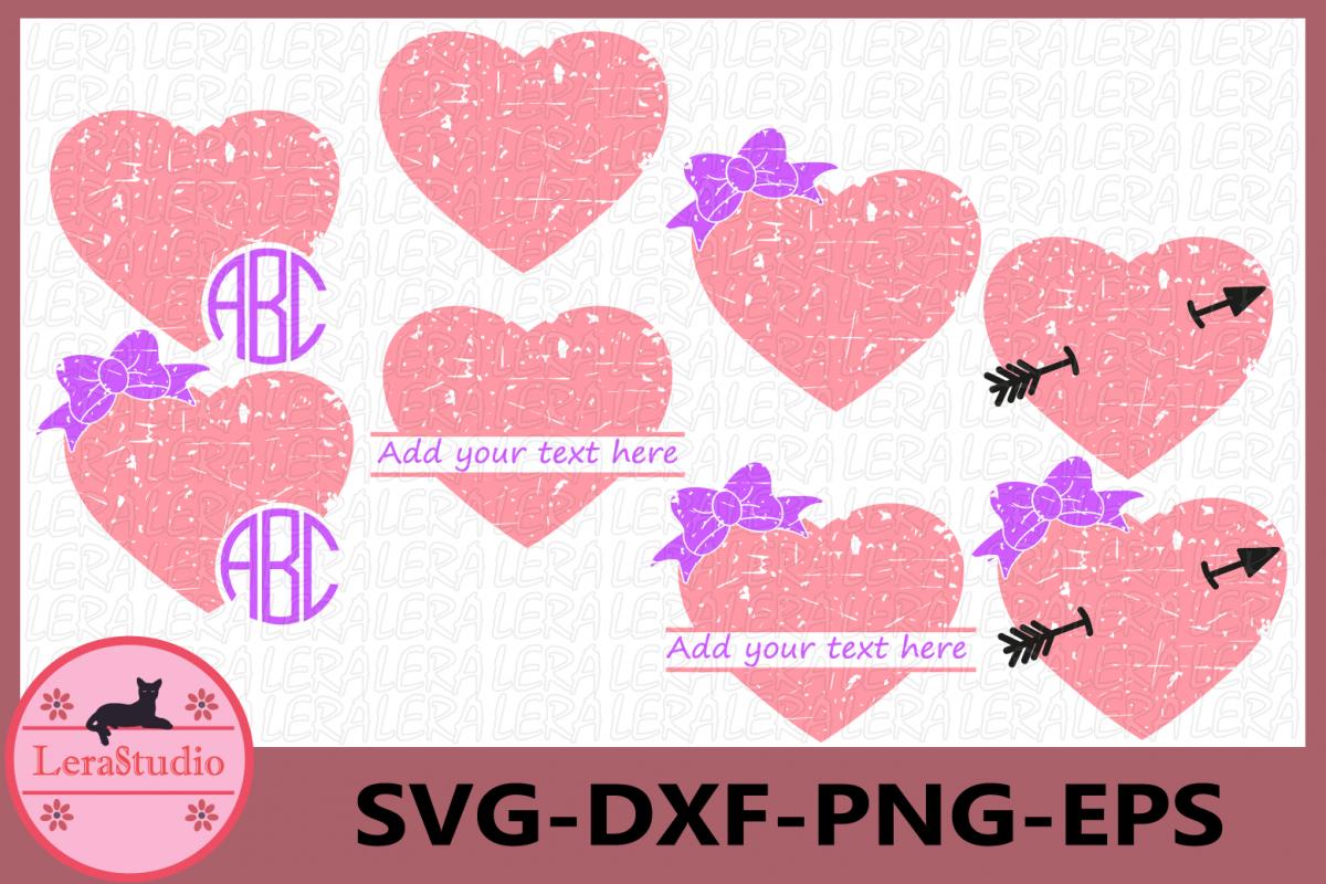 Heart Grunge SVG, Arrow svg, Distressed svg example image 1