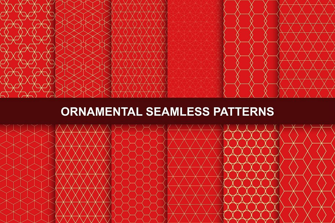 Rich Ornamental Patterns. Seamless. example image 1