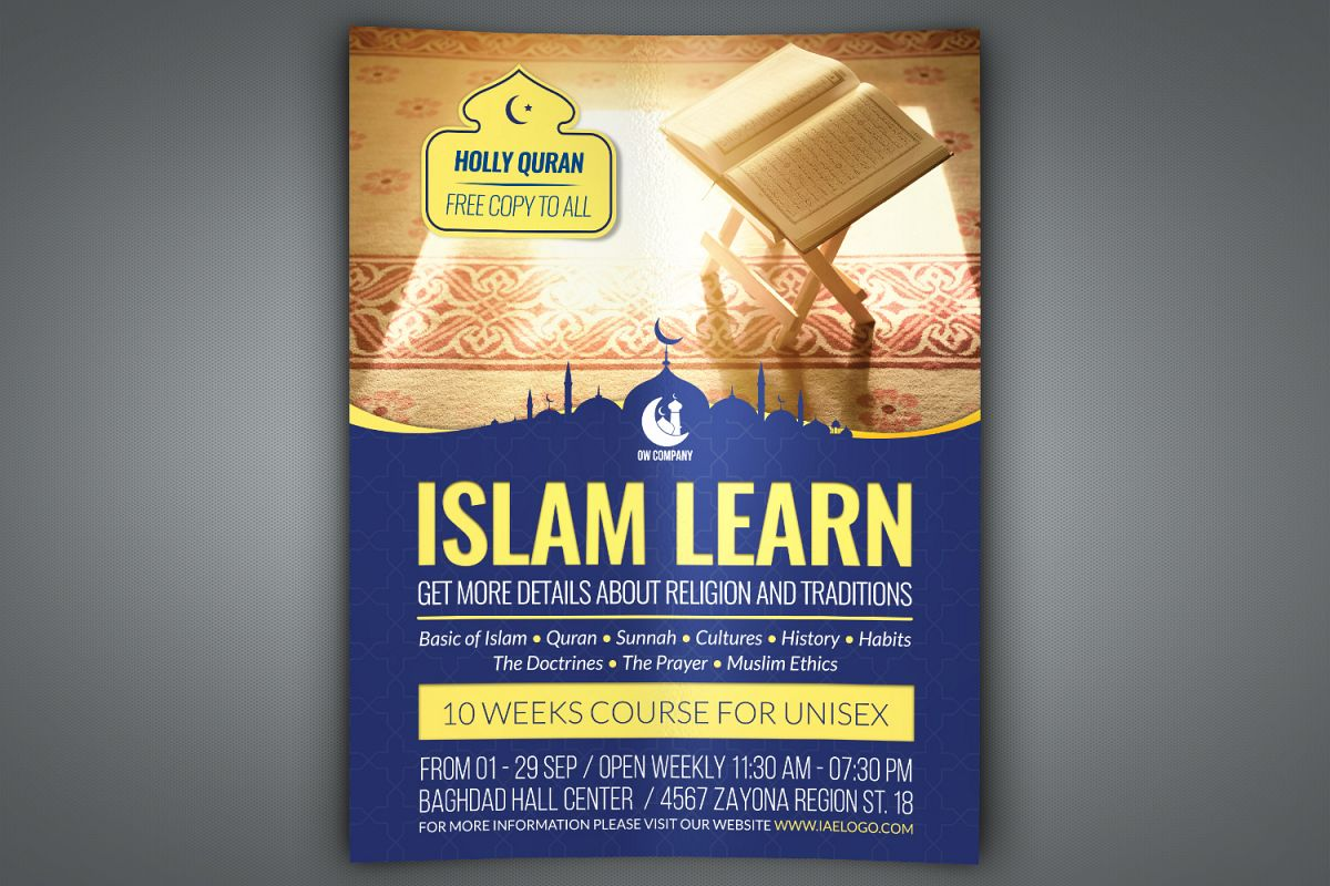 Islamic Flyer Template example image 1