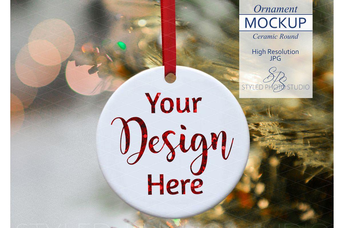Ceramic Christmas Ornament Mockup example image 1
