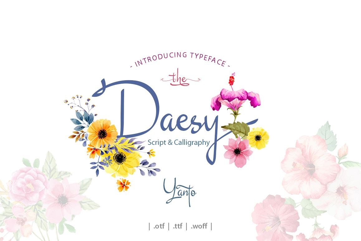 Daesy Script Challigrapy Font example image 1