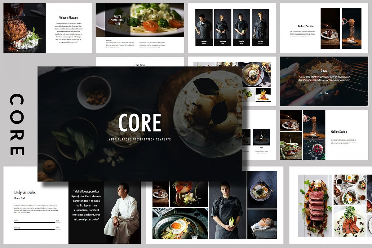 Core - Food Powerpoint Template