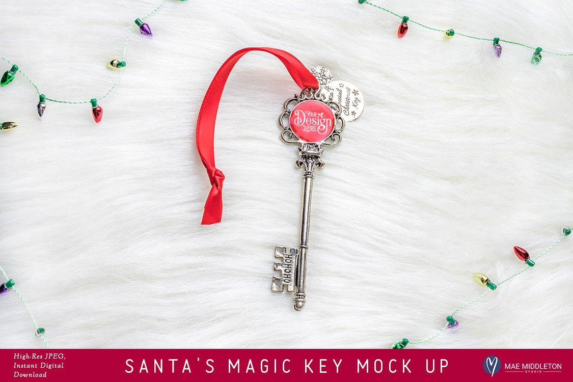 Santa's Magic Key - Lights, mock up, styled photo example image 1