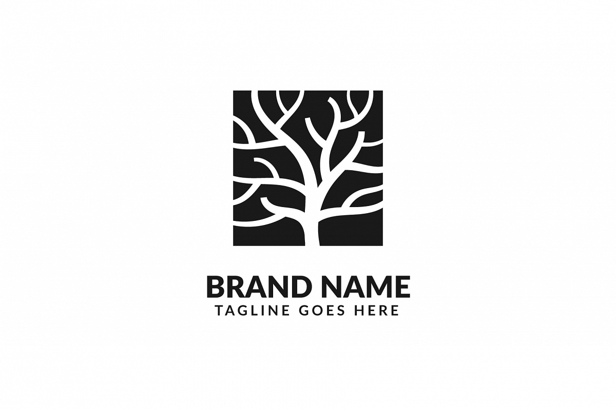 Tree trunk Logo Vol.01 example image 1