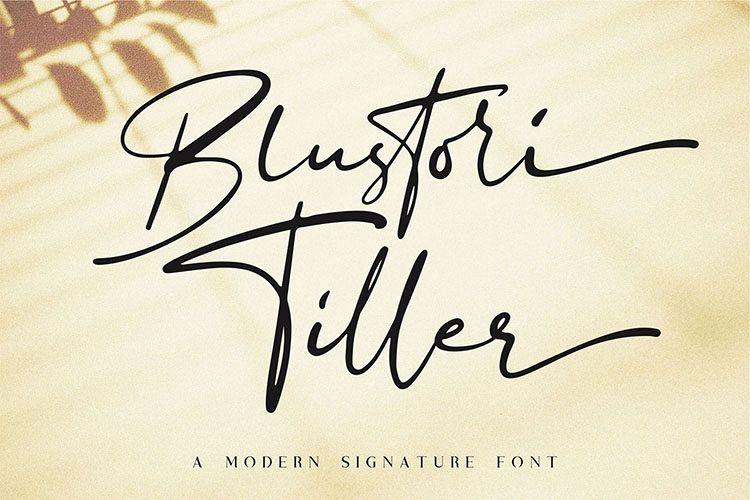 Blustori Tiller//Modern Script example image 1