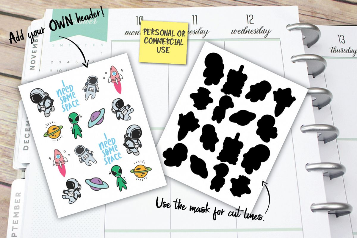 Space Planner Stickers example image 1