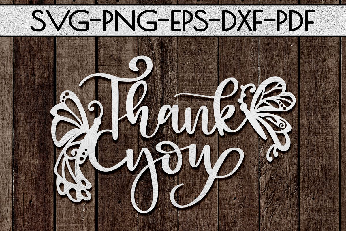 Thank You 4 Papercut Template, Spring Appreciation SVG, PDF example image 1
