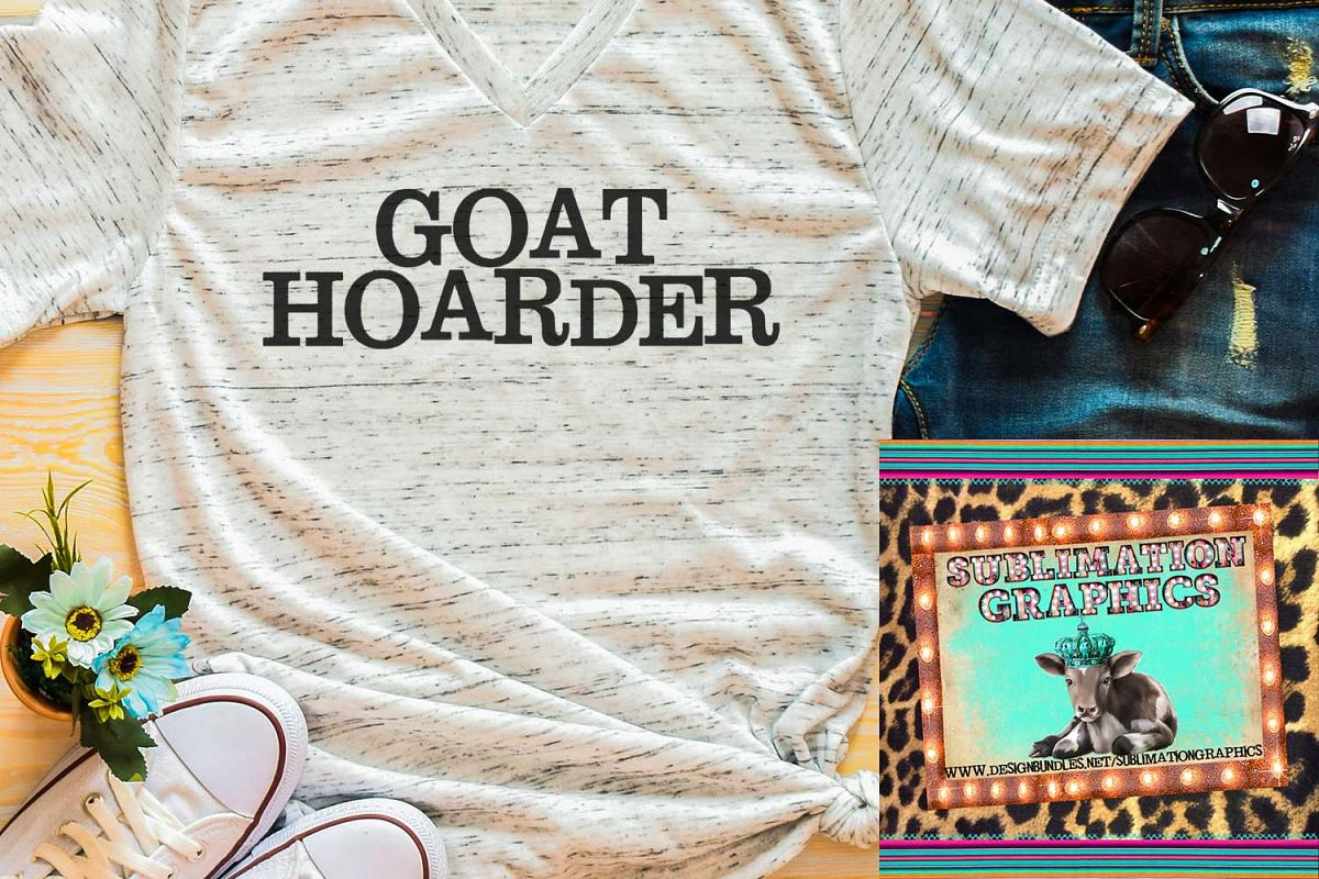 Goat Hoarder Sublimation Download example image 1