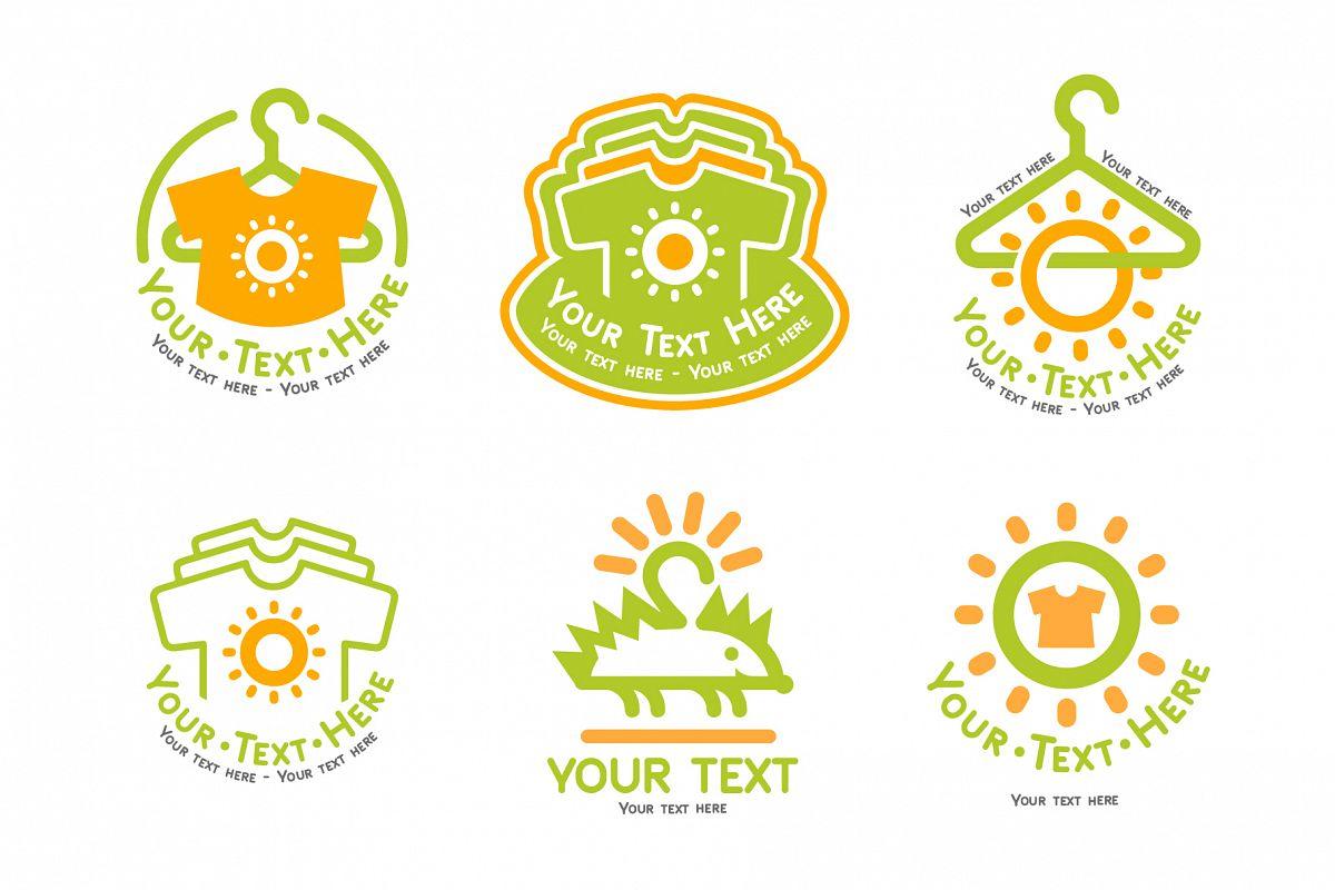 Kids cloth logo set example image 1