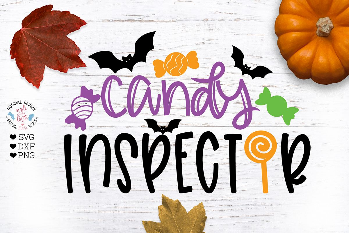 Halloween Candy Inspector Cut File example image 1