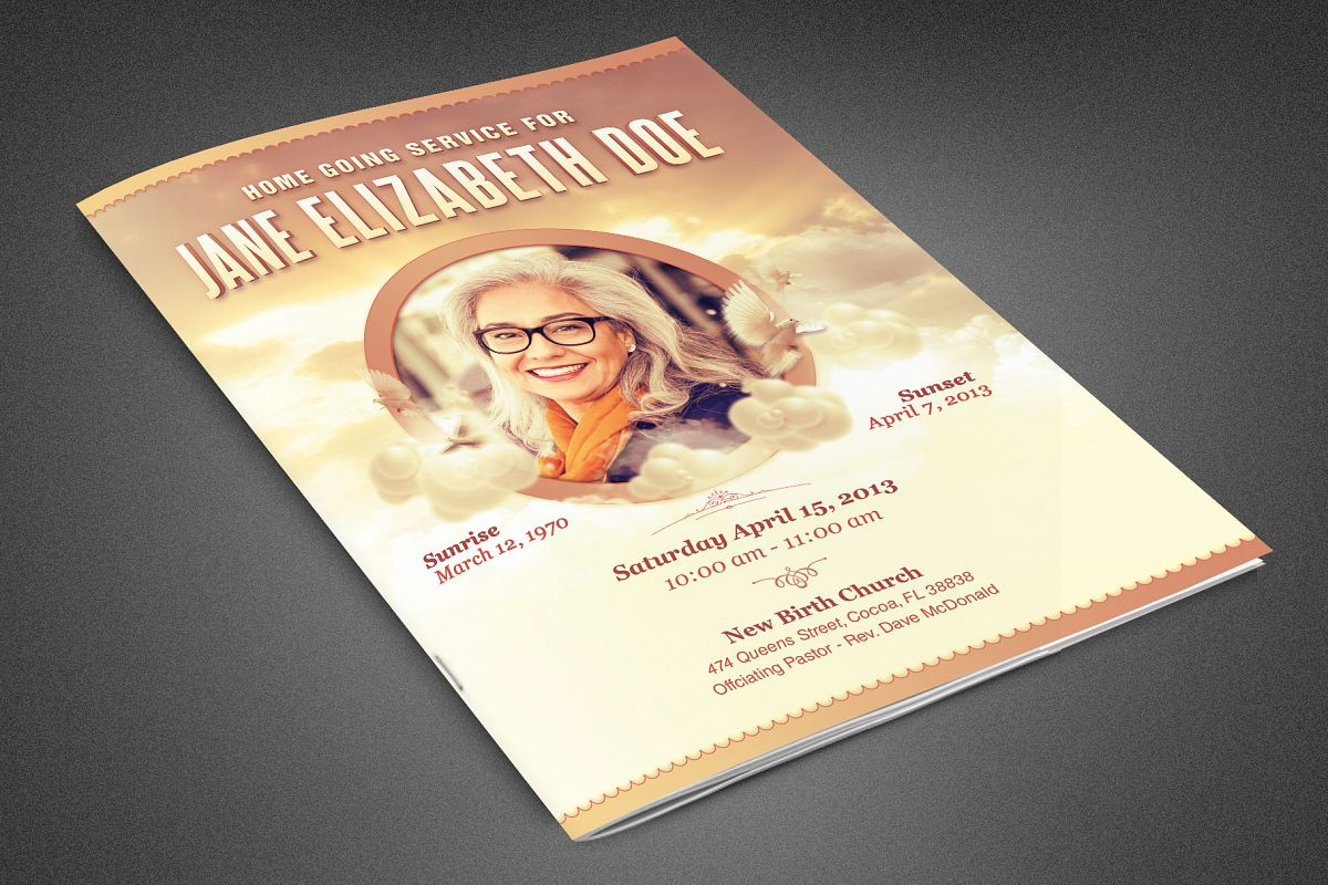 Homeward Bound Funeral Program example image 1