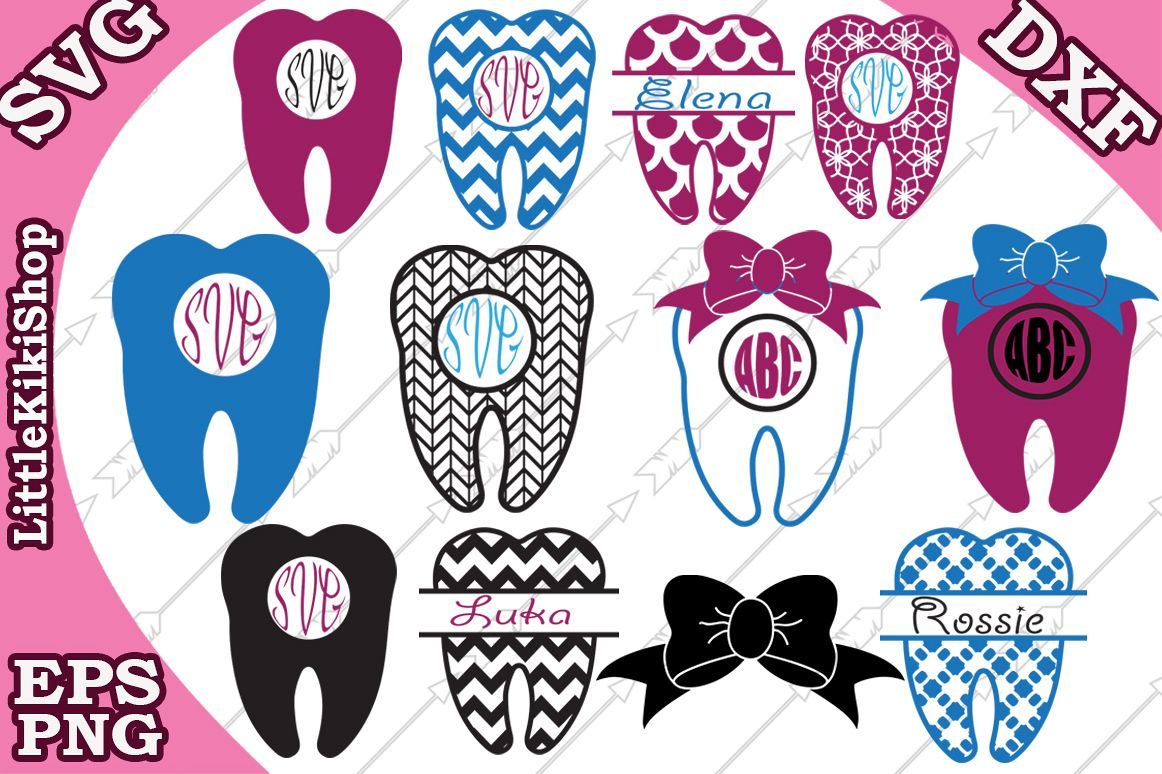 Tooth Svg , tooth Monogram Svg,Dentist Svg example image 1