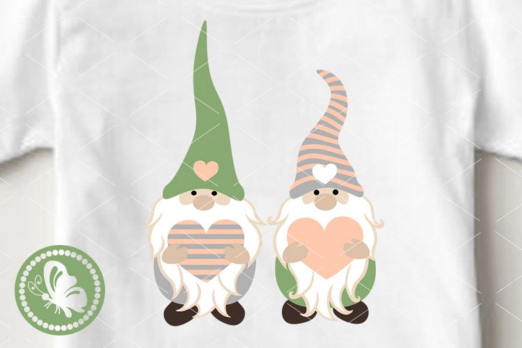 Gnomes svg print Cute Gnomies Valentine's day decor Birthday example image 1